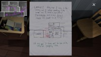 37. The last room to hit up on the second floor is the sewing room. In a folder here, we find a note from Sam to Lonnie, one that unlocks previously gated areas of the house, and lets us progress. Sam mentions a secret passage. It gets added to our map.
