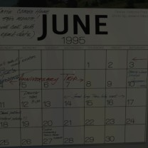 50. If you pay close attention to this calendar, we finally get an explanation here as to why Katie's parents aren't around, and why it was supposed to be Sam's responsibility to greet her tonight. Apparently, they are on an anniversary trip. One mystery officially ticked off.