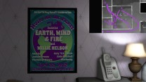 13. One last thing to note here, before we leave Jan and Terry's bedroom. There's and Earth, Wind & Fire poster on the wall, near the side of the bed that we might expect to be Terry's (if the other's is Jan's). Is Terry an Earth, Wind & Fire fan? Are they both fans?