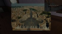 Our third postcard, from the Vatican, is on the corner of the dining room table.