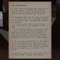 3. The will answers a very large lingering question in Gone Home: why the family has suddenly moved into this large mansion. The answer is that Terry was willed it by Oscar.