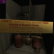 10. Inside is Oscar's stash of morphine syrettes. Apparently, he was an addict.