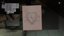 """11. Nearby, picking up this picture of an """"S+L"""" heart prompts Sam's December 8, 1994 journal entry, """"It's Different Now."""""""