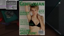 "Sam also has a copy of ""Gentleman"" magazine stashed in this locker. Katie's reaction to it, ""Gosh, Sam,"" is exactly the same as her reaction to finder her father's stash, presumably earlier."