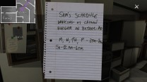A note on the fridge reveals that Sam has a high school job at the Clown Burger. Perhaps some savings from this are helping further support her and Lonnie when they run away?