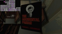 12. Behind the bar in the music room, we find another copy of The Accidental Pariah.